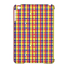 Yellow Blue Red Lines Color Pattern Apple Ipad Mini Hardshell Case (compatible With Smart Cover)