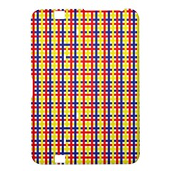 Yellow Blue Red Lines Color Pattern Kindle Fire HD 8.9