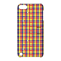 Yellow Blue Red Lines Color Pattern Apple iPod Touch 5 Hardshell Case with Stand