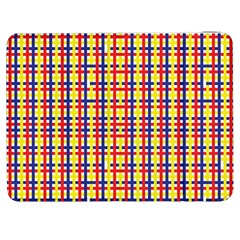 Yellow Blue Red Lines Color Pattern Samsung Galaxy Tab 7  P1000 Flip Case