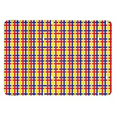 Yellow Blue Red Lines Color Pattern Samsung Galaxy Tab 8.9  P7300 Flip Case