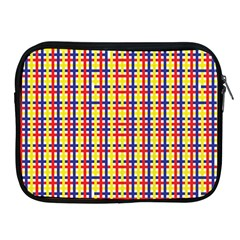 Yellow Blue Red Lines Color Pattern Apple iPad 2/3/4 Zipper Cases