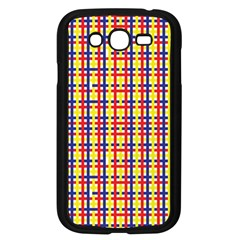 Yellow Blue Red Lines Color Pattern Samsung Galaxy Grand DUOS I9082 Case (Black)
