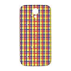 Yellow Blue Red Lines Color Pattern Samsung Galaxy S4 I9500/I9505  Hardshell Back Case