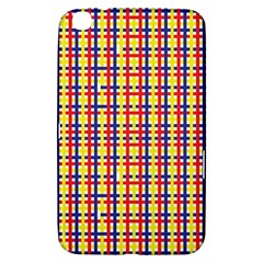 Yellow Blue Red Lines Color Pattern Samsung Galaxy Tab 3 (8 ) T3100 Hardshell Case