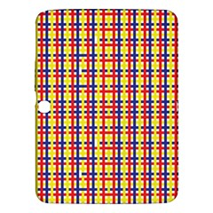 Yellow Blue Red Lines Color Pattern Samsung Galaxy Tab 3 (10 1 ) P5200 Hardshell Case