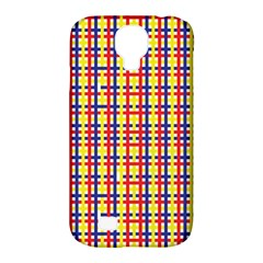Yellow Blue Red Lines Color Pattern Samsung Galaxy S4 Classic Hardshell Case (PC+Silicone)