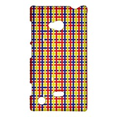Yellow Blue Red Lines Color Pattern Nokia Lumia 720