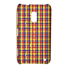 Yellow Blue Red Lines Color Pattern Nokia Lumia 620