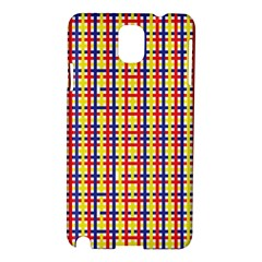 Yellow Blue Red Lines Color Pattern Samsung Galaxy Note 3 N9005 Hardshell Case
