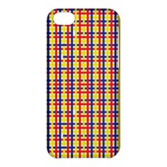 Yellow Blue Red Lines Color Pattern Apple Iphone 5c Hardshell Case
