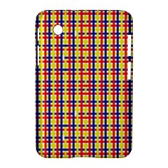Yellow Blue Red Lines Color Pattern Samsung Galaxy Tab 2 (7 ) P3100 Hardshell Case