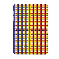 Yellow Blue Red Lines Color Pattern Samsung Galaxy Tab 2 (10.1 ) P5100 Hardshell Case