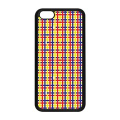Yellow Blue Red Lines Color Pattern Apple iPhone 5C Seamless Case (Black)