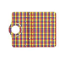 Yellow Blue Red Lines Color Pattern Kindle Fire HD (2013) Flip 360 Case