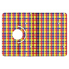 Yellow Blue Red Lines Color Pattern Kindle Fire Hdx Flip 360 Case