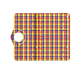 Yellow Blue Red Lines Color Pattern Kindle Fire Hdx 8 9  Flip 360 Case