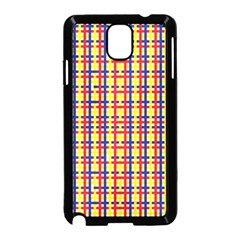 Yellow Blue Red Lines Color Pattern Samsung Galaxy Note 3 Neo Hardshell Case (Black)