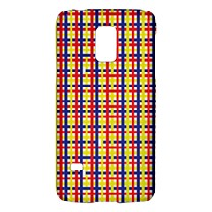 Yellow Blue Red Lines Color Pattern Galaxy S5 Mini