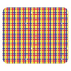 Yellow Blue Red Lines Color Pattern Double Sided Flano Blanket (small)