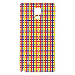 Yellow Blue Red Lines Color Pattern Galaxy Note 4 Back Case