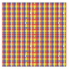 Yellow Blue Red Lines Color Pattern Large Satin Scarf (square)