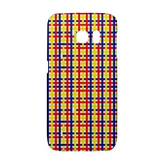 Yellow Blue Red Lines Color Pattern Galaxy S6 Edge