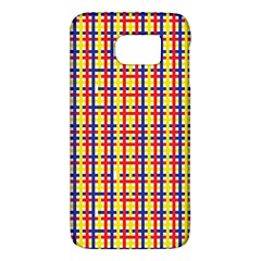 Yellow Blue Red Lines Color Pattern Galaxy S6