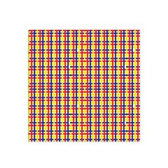Yellow Blue Red Lines Color Pattern Satin Bandana Scarf