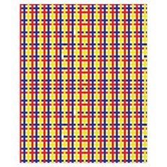Yellow Blue Red Lines Color Pattern Drawstring Bag (small)