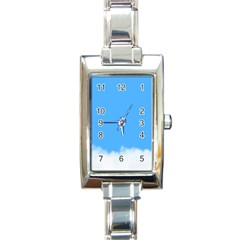 Blue Sky Clouds Day Rectangle Italian Charm Watch