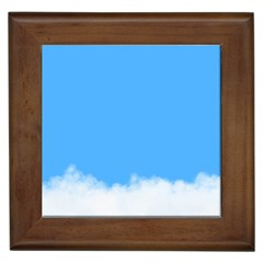 Blue Sky Clouds Day Framed Tiles