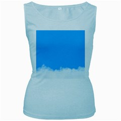 Blue Sky Clouds Day Women s Baby Blue Tank Top