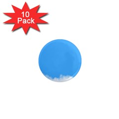 Blue Sky Clouds Day 1  Mini Magnet (10 pack)