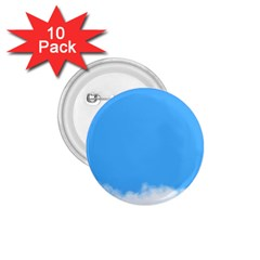 Blue Sky Clouds Day 1 75  Buttons (10 Pack)