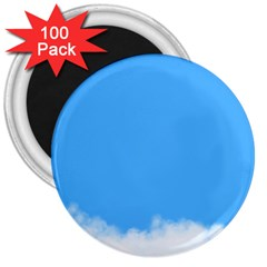 Blue Sky Clouds Day 3  Magnets (100 Pack)