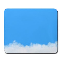Blue Sky Clouds Day Large Mousepads