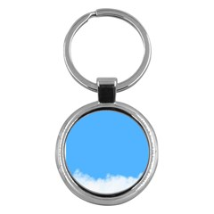 Blue Sky Clouds Day Key Chains (Round)