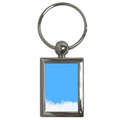 Blue Sky Clouds Day Key Chains (Rectangle)