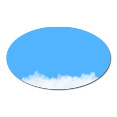 Blue Sky Clouds Day Oval Magnet