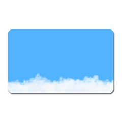 Blue Sky Clouds Day Magnet (Rectangular)
