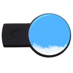 Blue Sky Clouds Day USB Flash Drive Round (2 GB)