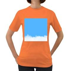 Blue Sky Clouds Day Women s Dark T-Shirt