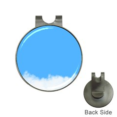 Blue Sky Clouds Day Hat Clips with Golf Markers