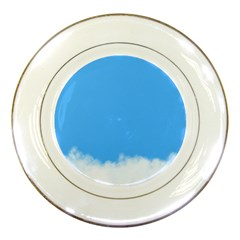 Blue Sky Clouds Day Porcelain Plates
