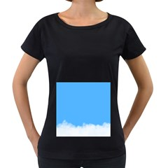 Blue Sky Clouds Day Women s Loose-Fit T-Shirt (Black)