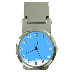 Blue Sky Clouds Day Money Clip Watches