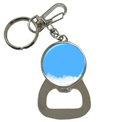 Blue Sky Clouds Day Button Necklaces