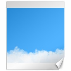 Blue Sky Clouds Day Canvas 8  X 10