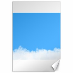 Blue Sky Clouds Day Canvas 12  x 18